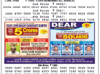 Lottery Sambad 8 PM Result 19 January 2020